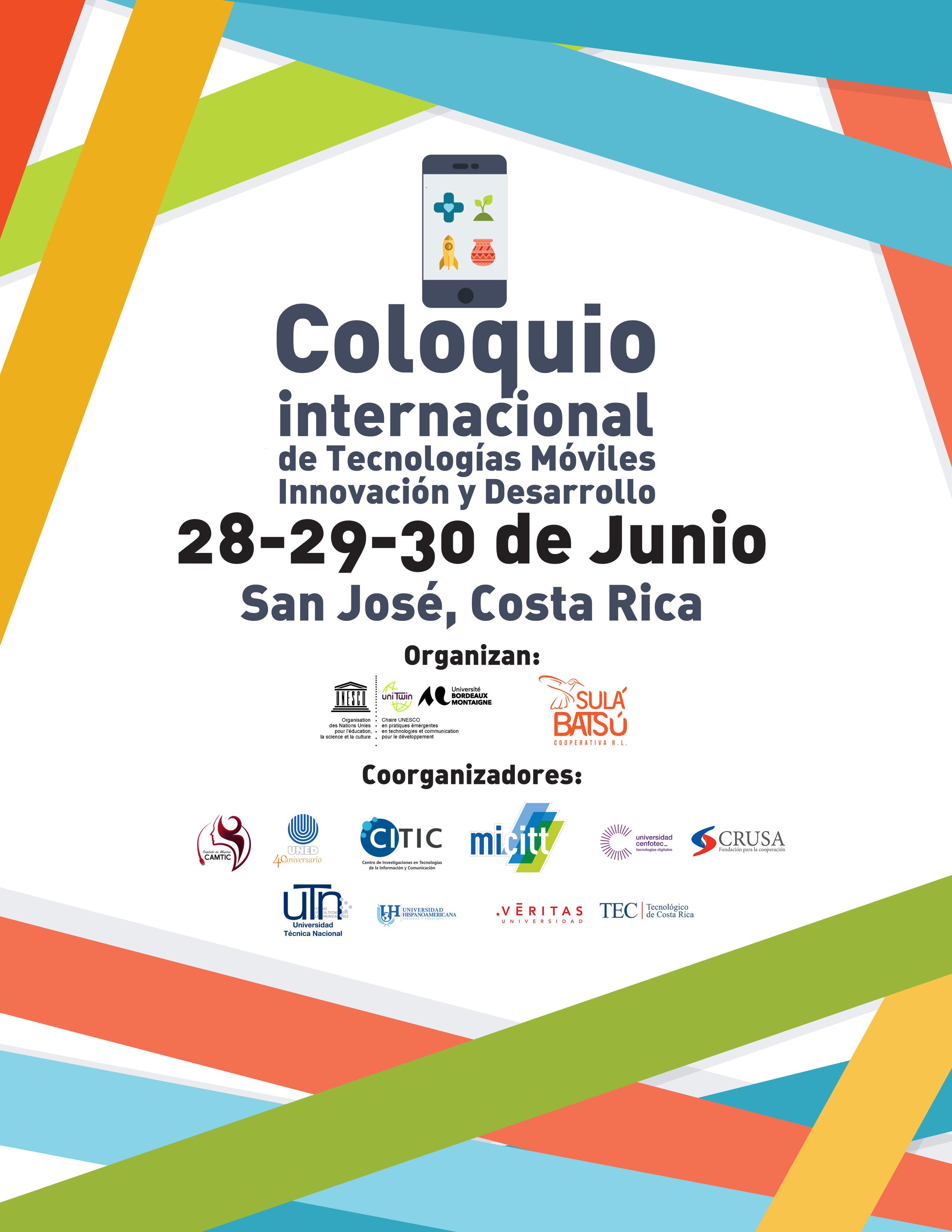 Banner oficial del Coloquio Internacional de Tecnologías Móviles, Innovación y Desarrollo